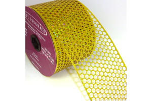 "Honeycomb Ribbon ""Holographic Gold"""