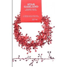 "25"" Mini Star Foil Garland ""Red"""