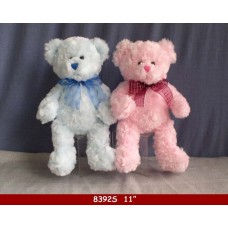 "11"" SOFT BEAR PINK/BLUE 2ASSORT."