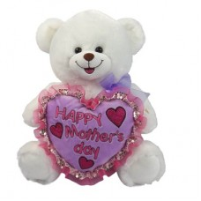 """16"""" HAPPY MOTHERS DAY WHITE BEAR"""