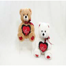 "11"" Bear with Heart"