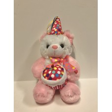 "11"" Pink Birthday Bear"