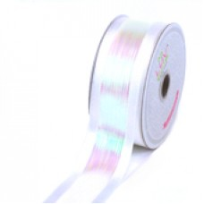 "1 1/2"" Iridescent Shimmering Ribbon ""WHITE"""
