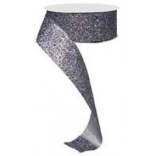"""1.5"""" Glitter on fabric """"Pewter"""""""