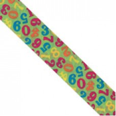 "1 1/2"" Double Face Satin Numeric Print Ribbon ""GREEN"""
