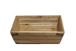 """10"""" Square Wood Crate"""