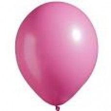 "12"" Hot Pink Round Latex Balloon"