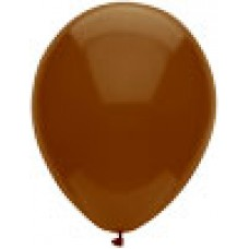 "12"" Chestnut Brown Round Latex Balloon"