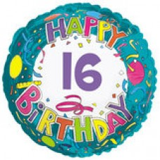 "18"" Age Related 16 Birthday Mylar Balloon"