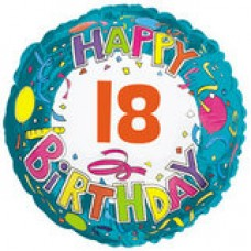 "18"" Age Related 18 Birthday Mylar Balloon"