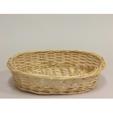 """16"""" Natural Willow Oval Tray"""