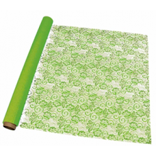 "20"" x 100' Victorian Lace Printed Roll ""Lime Green"""