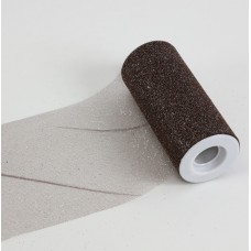 """6"""" x 25 YDS Glitter Tulle Roll- BROWN"""