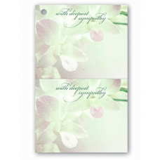 Deluxe Duplicate Sympathy Card - Floral Design
