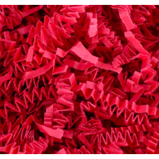 "Crinkle Cut Crimped Paper Shred ""RED"""