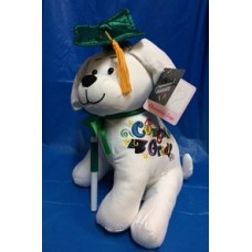 "10.5"" Graduation Dog with Pen ""Green"""