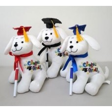 "10"" Graduation Dog with Pen ""Black Hat"""