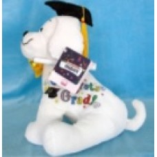 "10.5"" Graduation Dog with Pen ""Black Hat"""