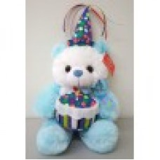 "11""  Blue Birthday Bear"