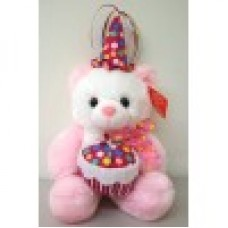 "14"" Pink Birthday Bear"