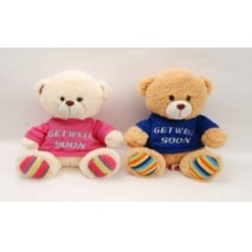 "10.5"" Gale Bear with Get Well Soon T-Shirt"
