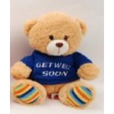 "10.5"" Gale Bear with ""Get Well"" Blue T-Shirt"
