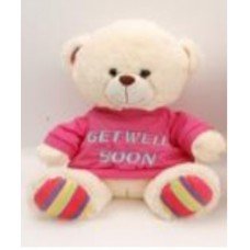 "10.5"" Gale Bear with ""Get Well"" T-Shirt"