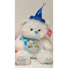 "12"" Birthday Musical Bear Blue"