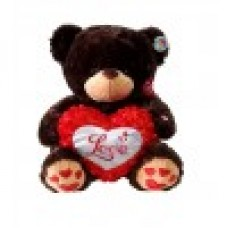 """13"""" Brown Bear with Love Heart"""