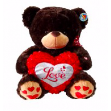 "16"" Brown Bear with Love Heart"