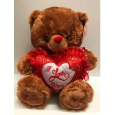 "16"" Brown Bear ""I Love You"""