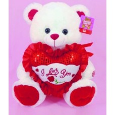 "15"" White Bear ""I Love You"""