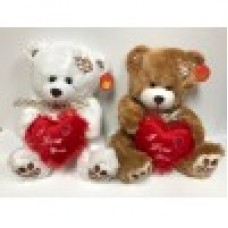 "12"" Valentine's Bear with Heart ""Mix"""