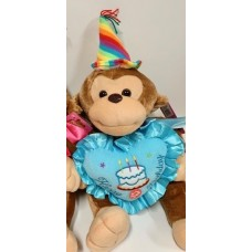 "12"" Happy Birthday Blue Monkey"