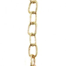 "1/2"" Chain Link Garland ""Metallic Gold"" 9'"