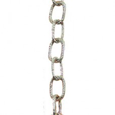 "1/2"" Chain Link Garland ""Metallic Silver"" 9'"