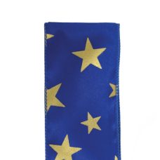 "2.5"" Star Spirit Ribbon ""Royal Blue / Gold"""
