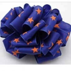 "2.5"" Star Spirit Ribbon ""Royal Blue / Orange"""