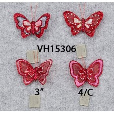 "3"" Valentine Sheer Butterfly"